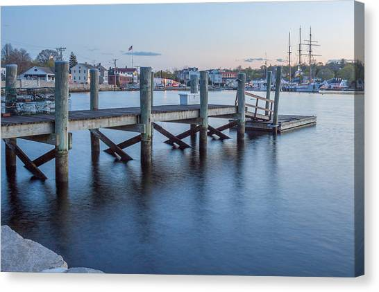 A Peaceful Dock -  Mystic Ct Canvas Print