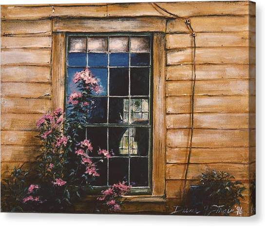 A Peek Through The Window Canvas Print
