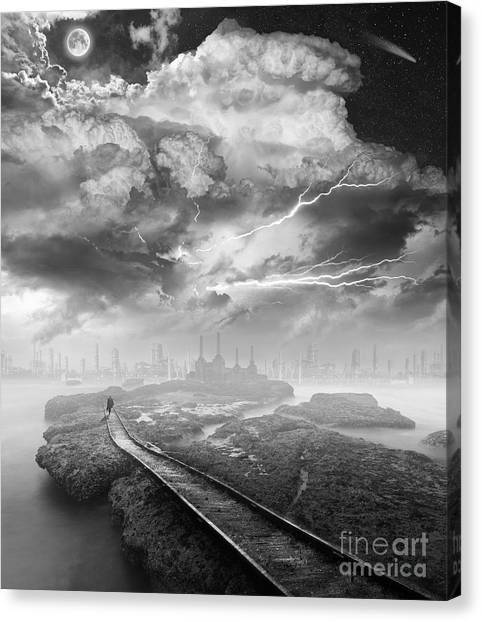 Desolation Canvas Print - A Perfect Stranger by Keith Kapple