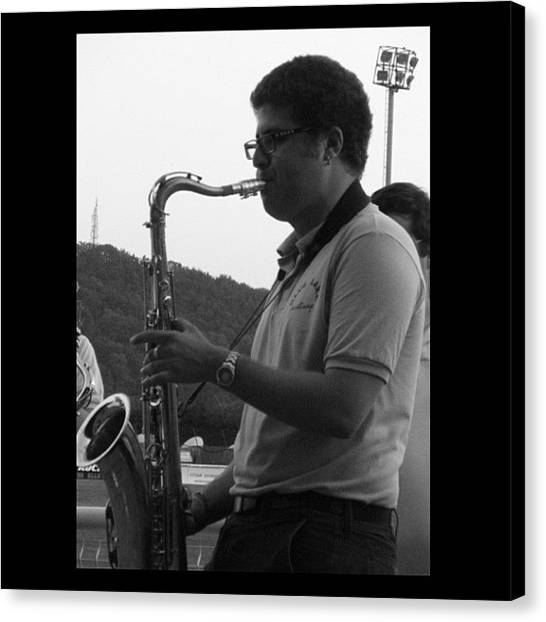 Saxophones Canvas Print - A Photo From Mondays Gig From My Host by Sam Pilnick