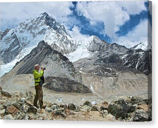 Mount Everest Canvas Print - A Photographer Photographs The Himalayas by Marc Pagani