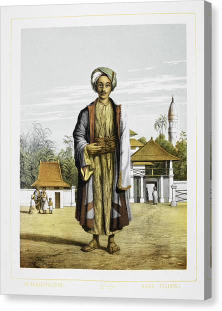 Pilgrims Canvas Print - A Pilgrim by British Library