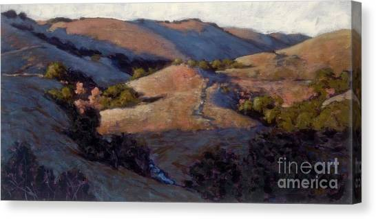 A Pinking Of The Hills Canvas Print
