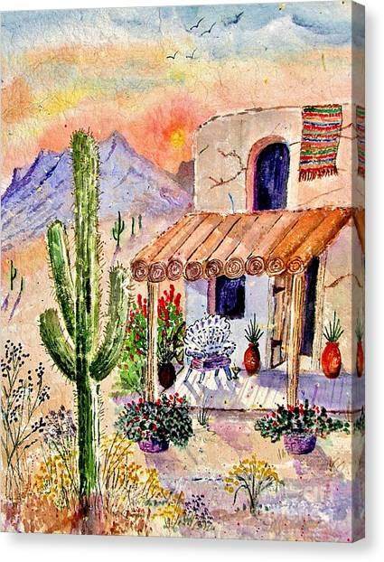 Clay Canvas Print - A Place Of My Own by Marilyn Smith