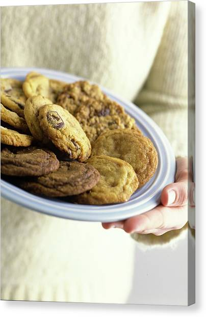 A Plate Of Cookies Canvas Print