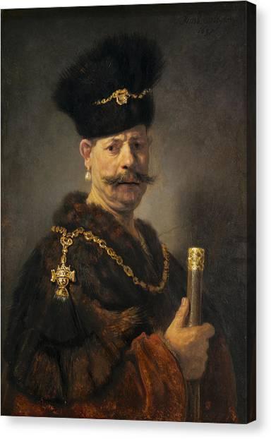 Rembrandt Canvas Print - A Polish Nobleman by Rembrandt