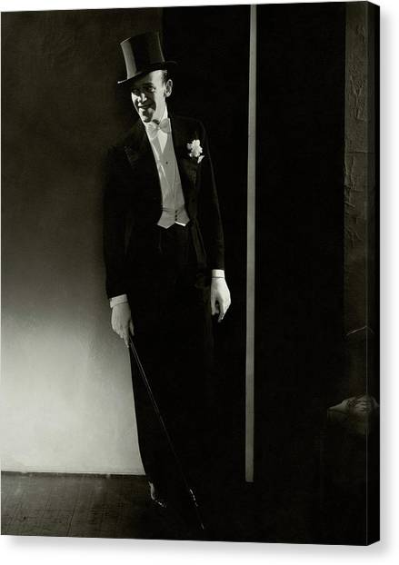 A Portrait Of Fred Astaire Canvas Print