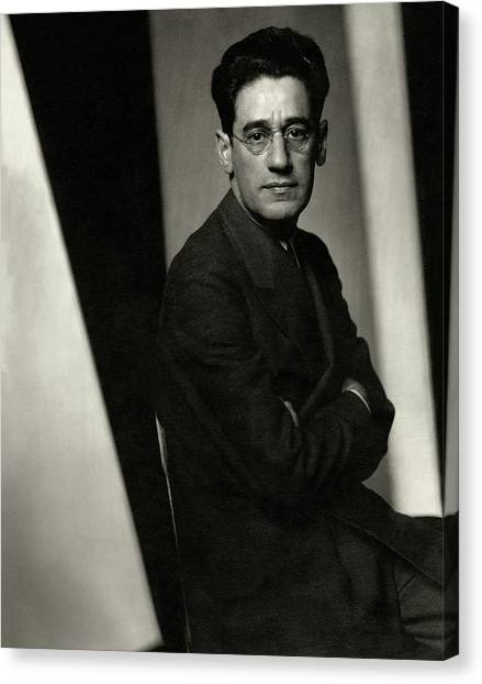 A Portrait Of George S. Kaufman Canvas Print