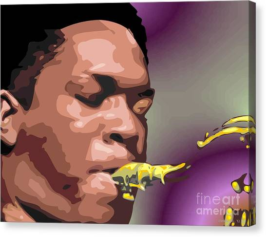 A Portrait Of John Coltrane Canvas Print