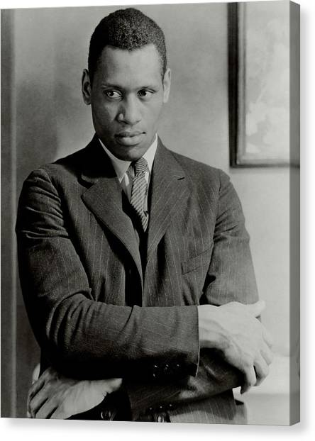 A Portrait Of Paul Robeson Canvas Print by Ralph Steiner