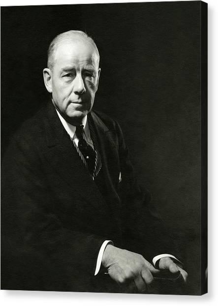 A Portrait Of Thomas W. Lamont Canvas Print by Edward Steichen