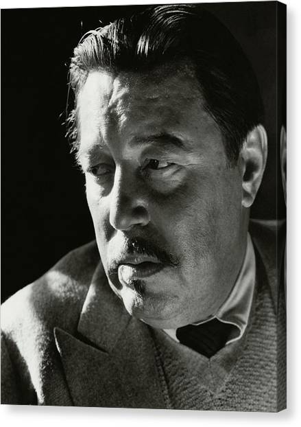 A Portrait Of Warner Oland Canvas Print by Imogen Cunningham