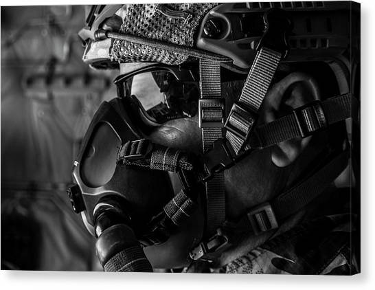 Nato Canvas Print - A Portuguese Air Force Member Looks by Stocktrek Images