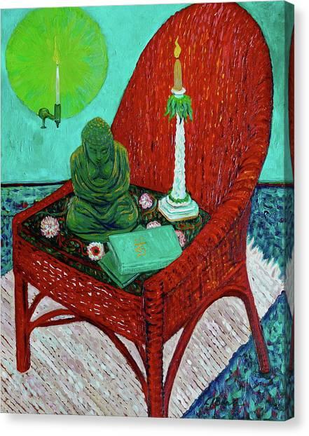 A Prayer For Vincent Canvas Print by Linda J Bean