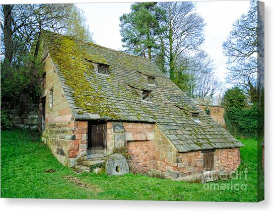 A Preserved Corn Mill From Medieval England - Nether Alderley Mill - Cheshire Canvas Print