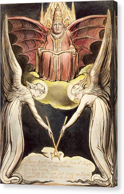 Priests Canvas Print - A Priest On Christ's Throne by William Blake