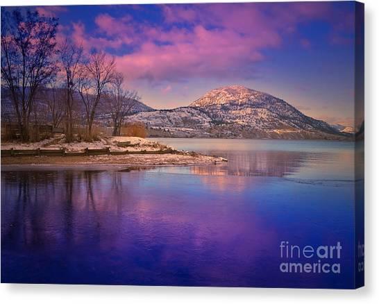 Okanagan Valley Canvas Print - A Purple Surrender by Tara Turner