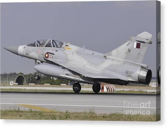 Emir Canvas Print - A Qatar Emiri Air Force Mirage by Giorgio Ciarini
