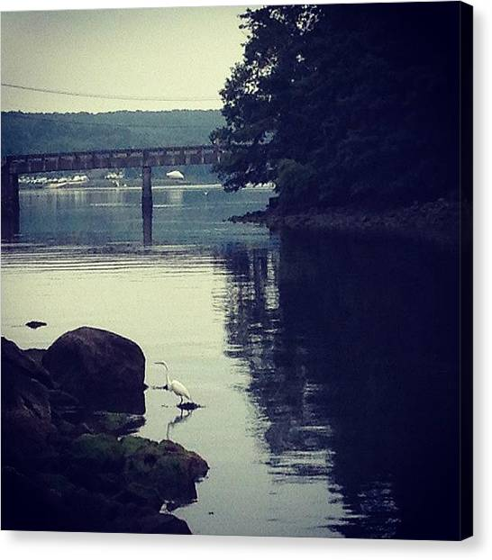 Rhode Island Canvas Print - A Quiet Moment By The River by Jason Fourquet