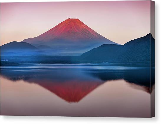 Mount Fuji Canvas Print - A Quiet Time, Mt,fuji In Japan by Artistname