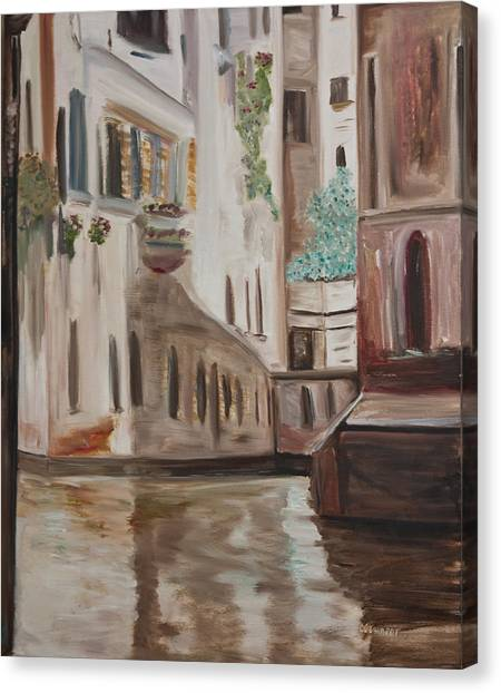 A Quiet Venice Canal Canvas Print