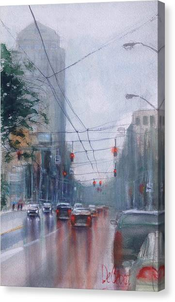 A Rainy Day In Dayton Canvas Print