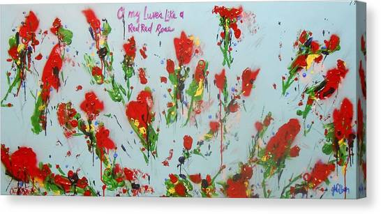 A Red Red Rose Canvas Print