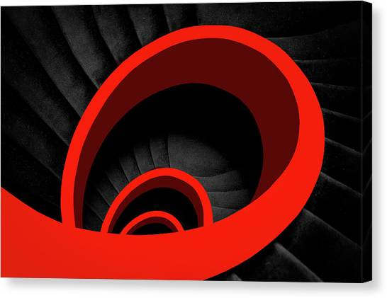 A Red Spiral Canvas Print by Inge Schuster
