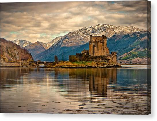 A Reflection At Eilean Donan Castle Canvas Print