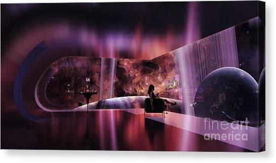 Forbidden Planet Canvas Print - A Rich Woman Looking At A Terrestrial by Brian Christensen