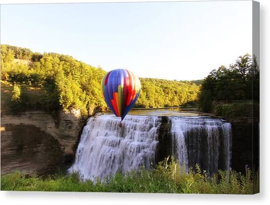 A Ride Over The Falls Canvas Print