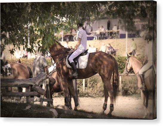 A Rider On A Horse Canvas Print