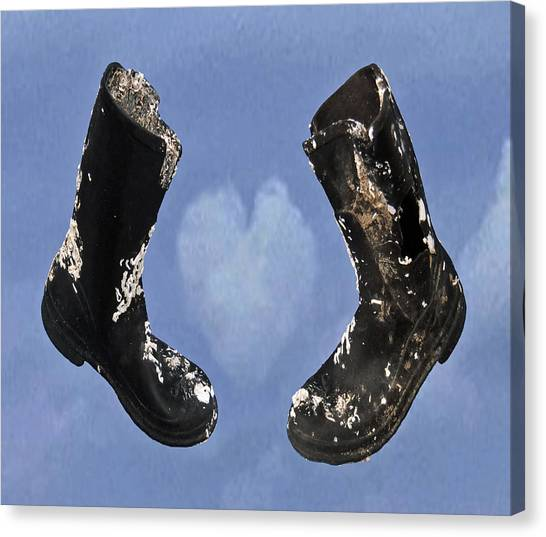 Moorland Canvas Print - A Right Pair by Eric Kempson