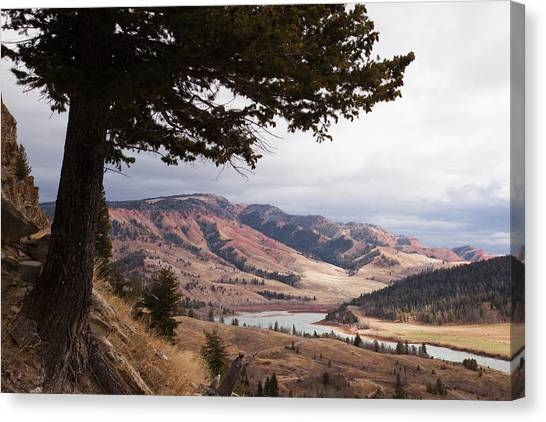 Teton National Forest Canvas Print - A River And Valley In The Gros Ventre by Steve Winter