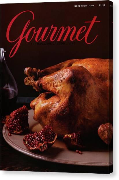 Turkey Dinner Canvas Print - A Roast Turkey by Romulo Yanes