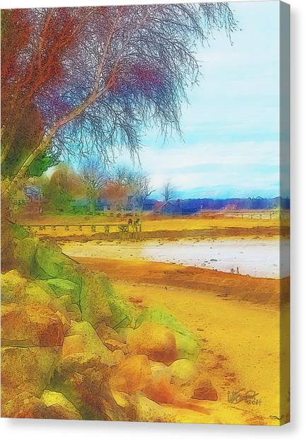 A Rocky Beach Canvas Print