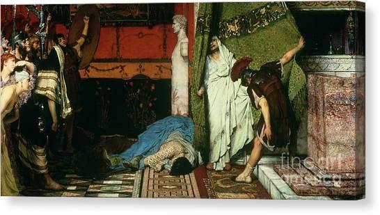 The Legion Canvas Print - A Roman Emperor   Claudius by Sir Lawrence Alma Tadema
