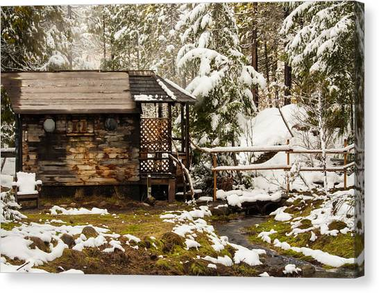 A Roof And A Hot Spring Canvas Print