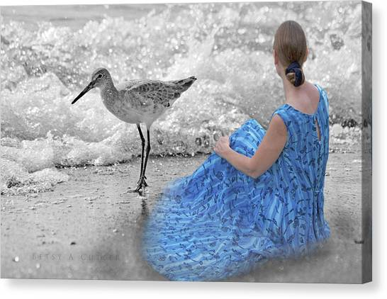 Sandpipers Canvas Print - A Sandpiper's Dream by Betsy Knapp