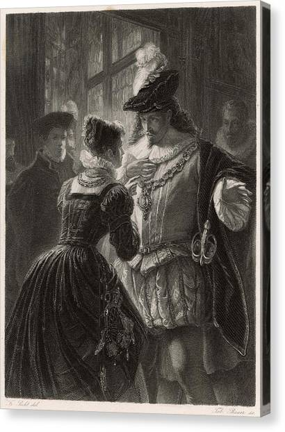 A Scene From Shakespeare's Comedy (or Canvas Print by Mary Evans Picture Library