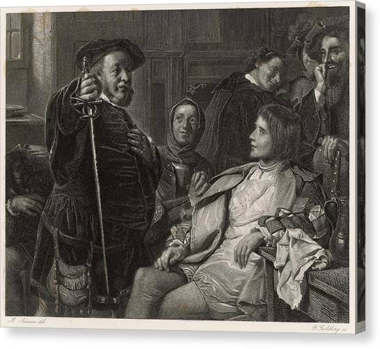 Influence Canvas Print - A Scene From Shakespeare's History by Mary Evans Picture Library