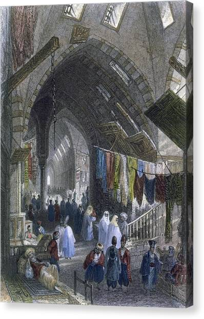 Fabric Canvas Print - A Scene In The Tchartchi, C.1850 by William Henry Bartlett