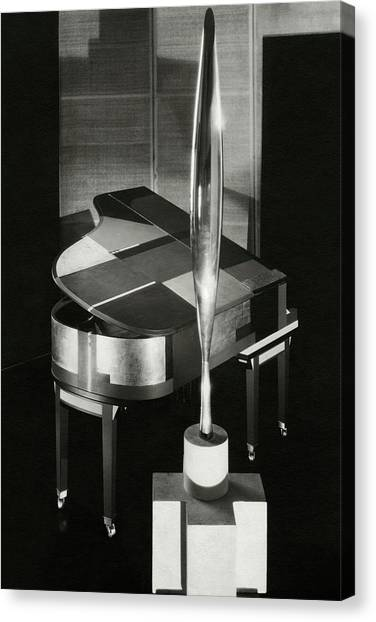 Electronic Instruments Canvas Print - A Sculpture Called Bird In Flight Designed by Edward Steichen