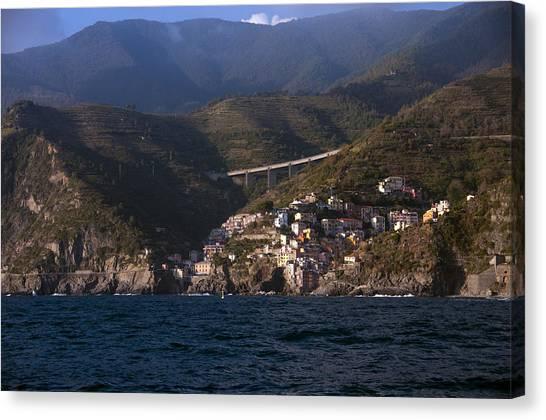 A Sea View Of Riomaggiore Canvas Print