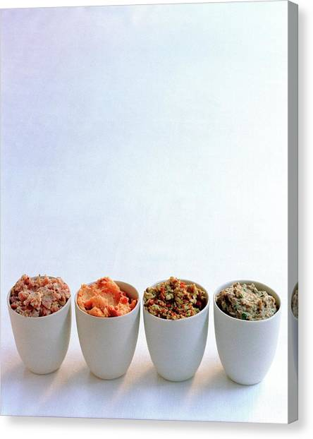 Condiments Canvas Print - A Selection Of Spreads by Romulo Yanes