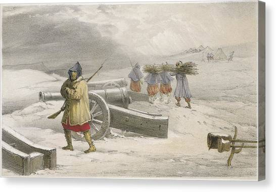 Harsh Conditions Canvas Print - A Sentinel Of The Zouaves  (french) by Mary Evans Picture Library