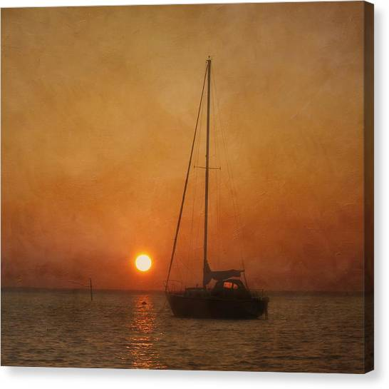 A Ship In The Night Canvas Print