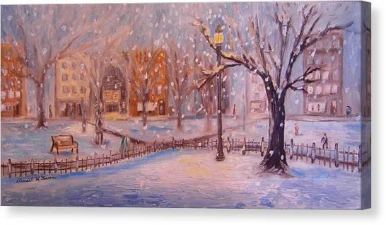 A Short Cut Through The Park Canvas Print by Daniel W Green
