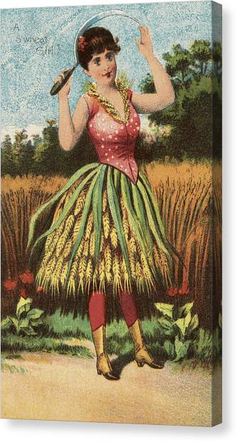 Vegetable Garden Canvas Print - A Shweat Girl by Aged Pixel