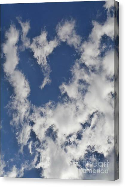 A Sign From Above.....love Canvas Print